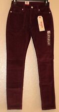 Levis Surplus Skinny Burgundy Corduroy Jeans Pants Women's Jr's Size 24x29~NWT's