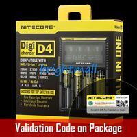 NEW 2019  NITECORE D4 Digi charger For 18650 14500 18350  Li-ion & Ni-MH