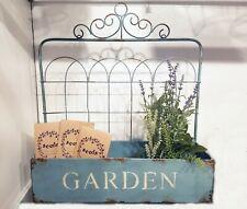 Blue French Country Home Garden Fleur de Lis Planter Window Box Plant Display