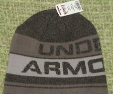 New UNDER ARMOUR Sharp ColdGear Winter Beanie Hat w/ LOGO Youth NWT