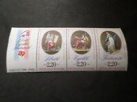 FRANCE 1989 TRIPTYQUE TIMBRES T2576, avec VIGNETTE, 200° REVOLUTION, neuf**, MNH