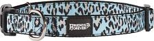 Friends Forever Fashion Leopard Pattern Dog Puppy Collar MED 14-20 in Durable