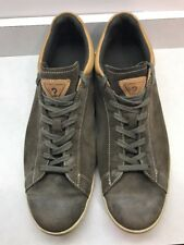 Mens Guess Sneakers Size 12 Green Brown Suede Low Top Lace Up