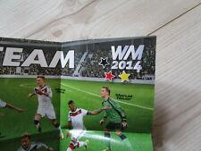 Poster Unser Team WM 2014, Frisch in den Sommer, Milchschnitte/ Kinder Pingui