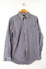 Tommy Hilfiger Herren Hemd Gr. L Langarm Blau / Rot Gestreift Shirt