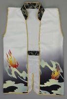 Japanese Samurai Bushi Jacket Jinbaori Cosplay Costume Kimono Dragon