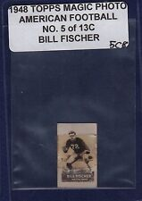 BILL FISCHER 1948 Topps Magic Photos Hocus Focus Football #5C RC Notre Dame (5C8
