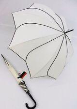 Pierre Cardin Glockenschirm Regenschirm Sunflower cremeweiß Langschirm Damen