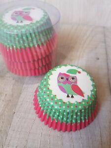 100PCS GREEN OWL DISPOSABLE PAPER CUPCAKE CASES CUPCAKE HOLDERS SET