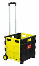 Mount It Rolling Utility Cart Folding And Collapsible Hand Crate On Wheels