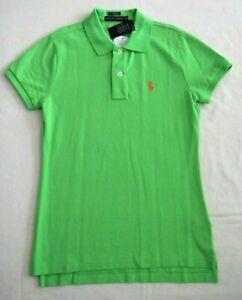 Ralph Lauren Lime Green Women's Skinny Fit Polo Shirt Size XS BNWT