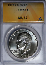 1977-D EISENHOWER IKE DOLLAR ANACS MS67 SCARCE SUPERB GEM 6093863