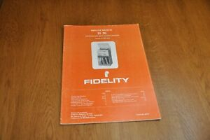 Fidelity IS 50 Stereo Music System Part no 44772 Genuine Service Manual