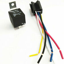 12V 30/40 Amp 5-Pin SPDT Automotive Relay with Wires & Harness Socket