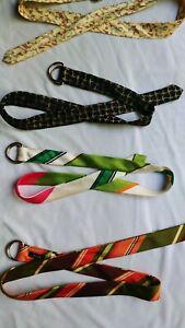 J crew Silk belt women S M L