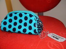 Mossino Dome Shape Cosmetic Case Blue Dot 7,5 in X 4 in X 3 in