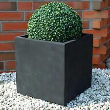 "Fiberglas Pflanzkübel Blumenkübel  ""Block"" 40x40x40cm anthrazit B-Ware TS 149"