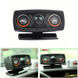 1Pcs Car Interior Inclinometer Slope Measure Tool Compass With Adjustable Stand