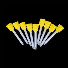50pcs 70mm Disposable Dental Supplies Impression Mixing Tip Silicone Rubber IY
