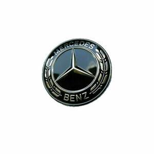 For Mercedes Benz W204 W205 W211 Black Star Flat Hood Bonnet Emblem Badge US
