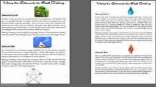 Using the Elements for Spell Casting 2pgs for Wicca Book of Shadows Pagan Ritual