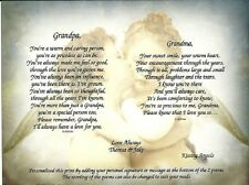 Personalized Poems for Grandparents or Parents Anniversary Wedding Wall Decor