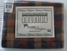 "Park Designs Spicecheck Unlined Window Valance 72""x14"" New Purple Orange Yellow"