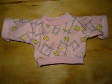 "Vintage 1980 CABBAGE PATCH KID DOLL CLOTHES Pink Gray Geometric Sweatshirt ""CPK"""