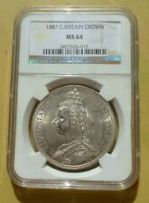 Great Britain 1887 Victoria Crown NGC MS64