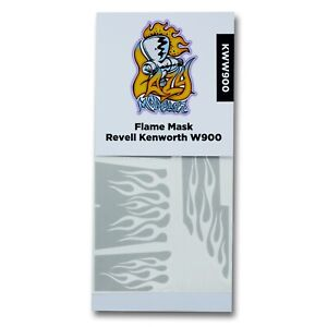 Flame Paint Stencil Template for Revell Kenworth W900 Truck