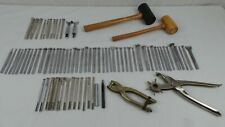 LOT OF LEATHER STAMPS PUNCH TOOLS CRAFTOOL & OTHER MISC TOOLS