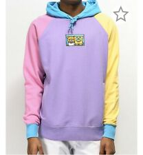 Teddy Fresh X Spongebob Limited Edition Color Block Hoodie Purple Size Large