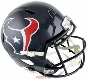 Davis Mills Signed Autographed Houston Texans Replica Full Size Helmet TRISTAR