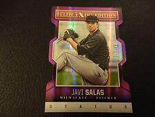 2014 Elite Extra Edition Javi Salas Purple Status Die Cut 27/150 Milwaukee