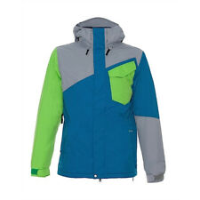 New Mens Volcom Profile Insulated 10K Snowboard Jacket XS Grey Extra Small