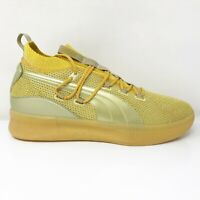 Puma Mens Clyde Court 192898-01 Yellow Running Shoes Lace Up Low Top Size 13