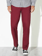 John Lewis Men's Deep Red Lumsden Straight Leg Chinos - W32 L34 -  BNWT RRP £40