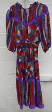 Plaza South, Vintage  Abstract Mixed Print BOHO Dress