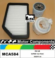 FILTER SERVICE KIT for KIA RIO UB G4FDE 1.6L Petrol 08/2011 on