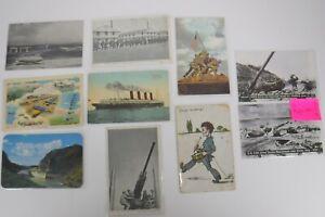 10 Vintage Military Postcard Lot