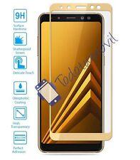 Cristal templado protector de pantalla completo Samsung Galaxy A8 2018 dorado