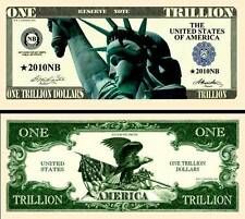 BILLET ONE TRILLION DOLLAR US! Collection Etats Unis MILLIARD de Monnaie Million