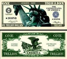 BILLET ONE TRILLION DOLLAR US! Collection Etats Unis MILLIARD de Monnaie Million