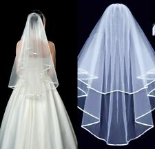 White Ivory Wedding Bride Veil Bachelorette To Be Fancy Dress Hen Night Party