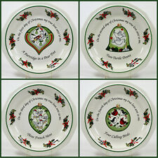 "Pfaltzgraff Heritage 12 DAYS OF CHRISTMAS 8.25"" Salad Dessert Plate Set 4Pc 1-4"