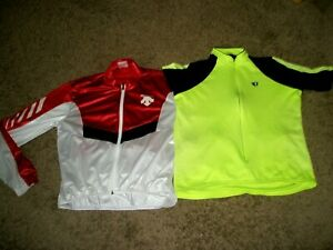 MENS DESCENTE VENTED BIKE JACKET & PEARL IZUMI CYCLING SHIRT SIZE SMALL S