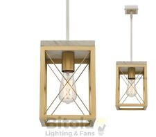 MERCATOR CLAUDIA 1 LIGHT CEILING PENDANT GOLD METAL W/ MARBLE HIGHLIGHTS MG1931