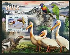 SAO TOME  2016 ASIAN FAUNA BIRDS  SOUVENIR SHEET  MINT NH
