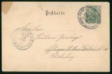 MayfairStamps Germany 1901 Frankfurt to Esslingen Card wwm97181