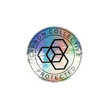 Carbon Collective Oil Slick Protected 40mm Window Sticker Free 1st Class P&P